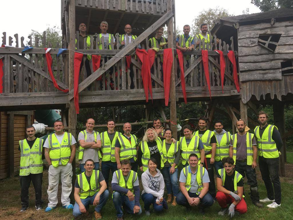 Lucas Volunteers Help to Regenerate the KIDS' Hackney Adventure Playground
